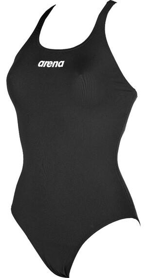 arena Solid Swim Pro Strój kąpielowy Kobiety czarny